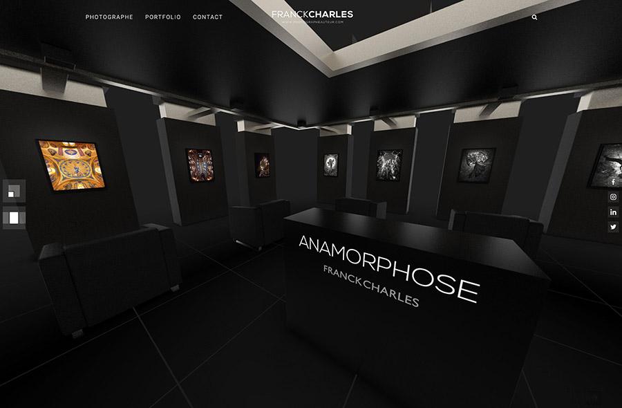 Galerie virtuelle 360° - ANAMORPHOSE - Franck CHARLES