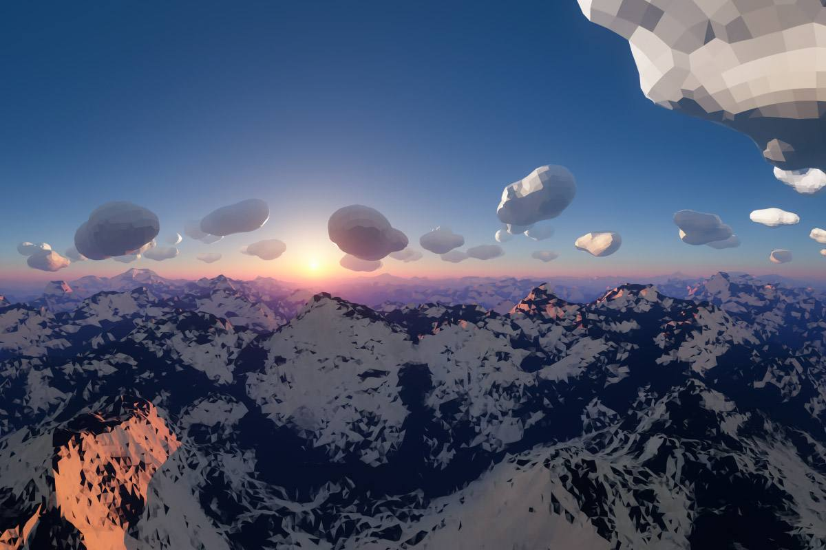 LOWPOLY - 360 3D Graphics © Franck CHARLES